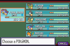 Pokemon Snakewood - old team - User Screenshot